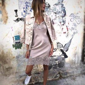 Gold Hawk Sunday Slip Dress 100%silk  Size S NWT